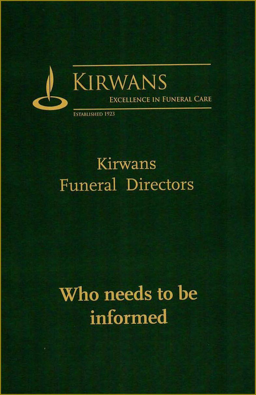 Kirwan booklet