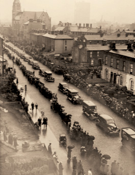 Kirwans conducting the Funeral of the German bombing victims, Dublin, May 1941